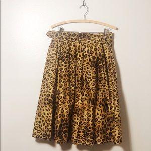 Jones New York Petite Full Leopard Print Skirt